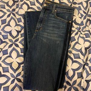 Joe's Jeans Dark Wash Side Stripe Jeans